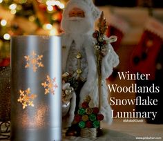 Winter Woodland Snowflake Luminary via @pinkwhen