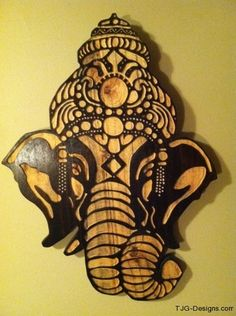 The art of Ganesha the remover of obstacles wood cut carvings