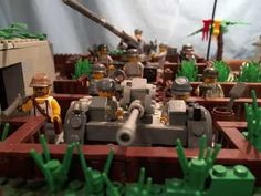 "lego ww2 Moc ""battle of the bunker"""