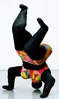 Niki de Saint Phalle - Nana noire upside down, 1656-66, Nice, collection MAMAC, donation de l'artiste en 2001.