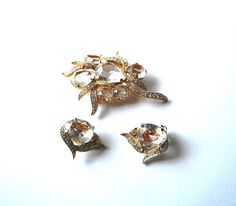 Vintage Brooch And Earrings EISENBERG ICE by madilyns on Etsy, $95.00