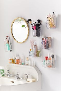 Shop Acrylic Toiletries Wall Pocket at Urban Outfitters today. Teen Bathrooms, Shampoo Dispenser, Vanity Decor, Wall Pockets, Urban Outfitters, Home Organization, Organizing, Medicine Organization, Room Inspiration