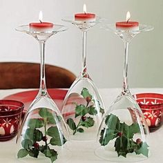 Christmas Candle Decorations  #Christmas #Candles  #Candleholders www.loveitsomuch.com