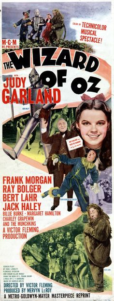 Best Film Posters : Judy Garland Wizard of Oz Classic Movie Poster giclee reproduction either fram Classic Movie Posters, Old Movie Posters, Movie Poster Art, Classic Movies, Vintage Posters, Cinema Posters, Wizard Of Oz Movie, Wizard Of Oz 1939, I Movie