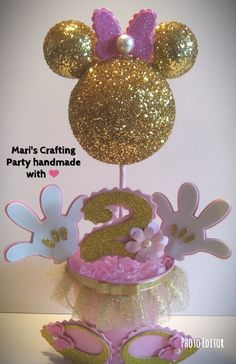 Minnie Mouse Centerpieces/ Minnie Mouse Center table/ Minnie | Etsy