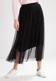 Holzweiler. DON'T PROMISE - Fotsidt skjørt - black. Lengde:ankellang. Totallengde:87 cm i størrelse S. Overmateriale:100% polyester. Mønster:ensfarget. fôr:100% viskose. Detaljer:Glidelås,Underskjørt. Passform:vid. Modellhøyde:Modellen er 178 cm høy... Midi Skirt, Tulle, Skirts, How To Wear, Black, Fashion, Scale Model, Moda, Skirt