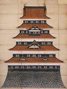 明暦の大火によって焼失した江戸城天守閣を再建すべく、正徳2年(1712)に計画された本丸天守閣正面図です。