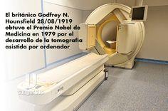 El británico Godfrey N. Hounsfield (28/08/1919) obtuvo el Premio Nobel de Medicina en 1979 por el desarrollo de la tomografía asistida por ordenador #conversus #ciencia #divulgacion