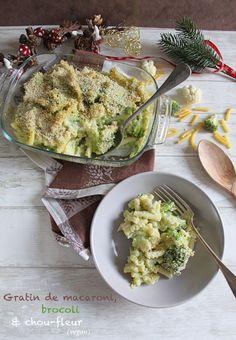 { En attendant Noël } Gratin de macaroni, brocoli et chou-fleur (vegan) • Cook A Life! by Maeva