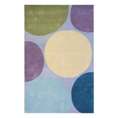 Overstock Indo Hand-tufted Gray/ Purple Wool Area Rug (5' x 8') - Overstock™ Shopping - Great Deals on 5x8 - 6x9 Rugs