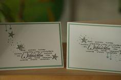 Moderne Weihnachtskarte in SU Farben flüsterweiss und minzmakrone