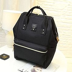6f2728c13716 Amazon.com  Japan Anello Oxford Unisex Daypack Backpack School Book Bag  (Black)  Sports   Outdoors