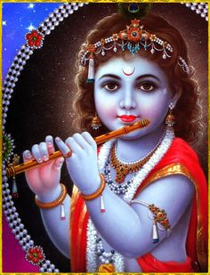 """☀ SHRI KRISHNA ॐ ☀ """"For one who is anxious to engage constantly in hearing such topics, Krishna-katha gradually increases his indifference towards all other things. Such constant remembrance of the lotus feet of Lord Krishna by the devotee who has..."""