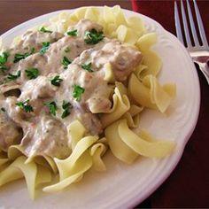 Slow Cooker Chicken Stroganoff Allrecipes.com
