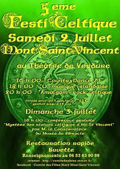 5e FestiCeltique de Mont-Saint-Vincent le 2 juillet 2016 : http://clun.yt/28Tw4TA