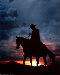 cowboy art prints   cowboy sunset ewing galloway 8x10 fine art print print under $ 20 00 ...