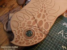 >>>By Jeweleeches Vivian Hebing! At the pic busy with a handbag of natural tanned leather! Of course there will be my own handmade glass cabochon/ 'eye' in it! It's my own design, please do not copy! Do you want to see more of my work, find me on facebook or Etsy too!