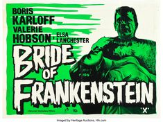 Old Film Posters, Horror Movie Posters, Horror Movies, Music Posters, Frankenstein Pictures, Bride Of Frankenstein, The Modern Prometheus, Famous Monsters, Classic Monsters