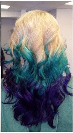Green to purple ombré.