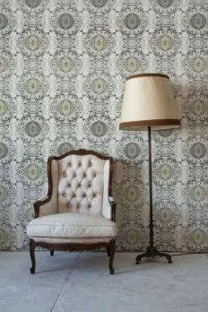 Graduate Collection Lauren Beebe Ceiling Rose Wallpaper