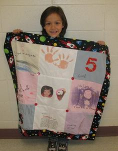 "Quilt in Kindergarten. Project in response to my picture book, ""You're Wonderful"""