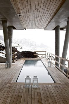 Ion Hotel - Reykjavik, Iceland. Swimming and enjoying the view of Icelandic nature.
