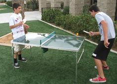 """UNIQUE Oasis HEAVY DUTY Portable """"MINI COOL PING PONG TABLE"""" -5 YEARS WARRANTY -HIGH QUALITY PRODUCT.....A BONUS SOLAR RECHARGEABLE LED FLASHLIGHT INCLUDED WITH YOUR TABLE!!! by Oasis. $99.99. This One Of A Kind All Aluminum Lightweight Construction Mini Ping Pong Table is nothing but fun! It is one of the most popular portable tables we manufacture! It includes Two Paddles, Ball, Net and Storage Bag. Use it for eating a favorite meal then play Mini Ping Pong later. I..."""