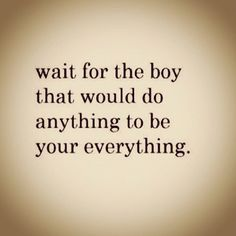 Just keep waiting