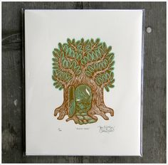 """House Tree"" my favorite print from  Tugboat Print Shop"