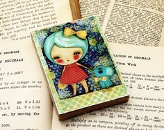 Little Blue Elephant  ACEO Giclee Reproduction by DanitaArt, $8.00