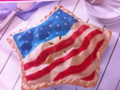 USA PIE.  This must be done in a Wilton cake pan...never seen a star pie pan before.