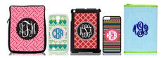 Design your one of a kind monogrammed cell phone and device case at Marleylilly.com! Select your background pattern, center shape and colors and ensure your smartphone is unique! #design #diy #monogram #love #musthave