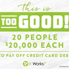 It's back & I couldn't be more excited!!! And for people who join my team in October you qualify for a $10,000 Bonus!!! Now is the time to join my team w/ It Works! What are waiting for?! :D