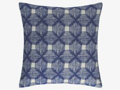 PACIFIC BLUES Cotton 45 x 45cm blue patterned cushion - HabitatUK