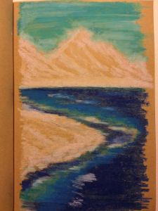 Oil Pastel Quick Drawing 1.