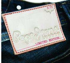 etiqueta de cintura grabada Pepe jeans.