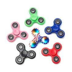 Spinz LED Classic Fidget Spinner 6 Pack