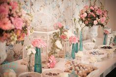 decoração romantica casamento vasos vidro - Pesquisa Google