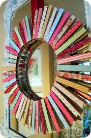Superfluous: Valentine's Clothespin Wreath