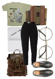 """i'm not like them but i can pretend"" by qimmig on Polyvore featuring Bottega Veneta and Dr. Martens"