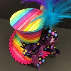 Willy Wonka Rainbow Mini Top Hat
