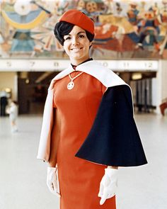 1960s Flight Attendant  Uniform...