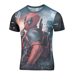 mens fashion casual (SS series) Best Sell Fashion Casual Deadpool t shirt 3d printer On Sale funny t-shirt Deadpool anime size :S-4XL men t-shirt * Offer can be found online by clicking the image