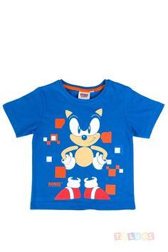 T-shirt Sonic bleu #Toluki #Sonic #enfant