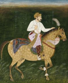 South Asian and Himalayan Art | Equestrian Portrait of Jahangir | S1986.414