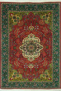 Tabriz Medallion Hand Knotted Wool Rug