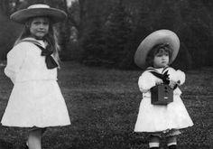 Anastasia & Alexei Romanov & their little brownie camera.