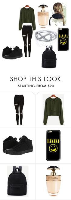 """Outfit 95"" by lizzie-adams-3 ❤ liked on Polyvore featuring Topshop, Converse, Casetify and Prada"
