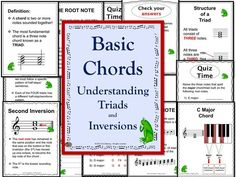 This 33 page PDF file that explains step by step how Major, Minor, Diminished and Augmented triads are constructed. Student quizzes included.     #musiceducation    #musedchat