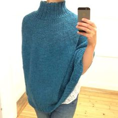 Ravelry: Nem Poncho pattern by ByProjectHandmade Poncho Shawl, Knitted Poncho, Knitting For Beginners, Knitting Projects, Diy Fashion, Hand Knitting, Knit Crochet, Double Crochet, Knitting Patterns